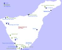 Teneriffa Karte.Golfplatze Auf Teneriffa Startzeiten Reservieren Golf